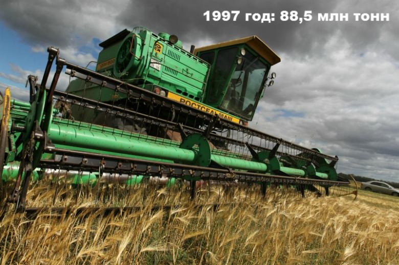 1997 год: 88,5 млн тонн