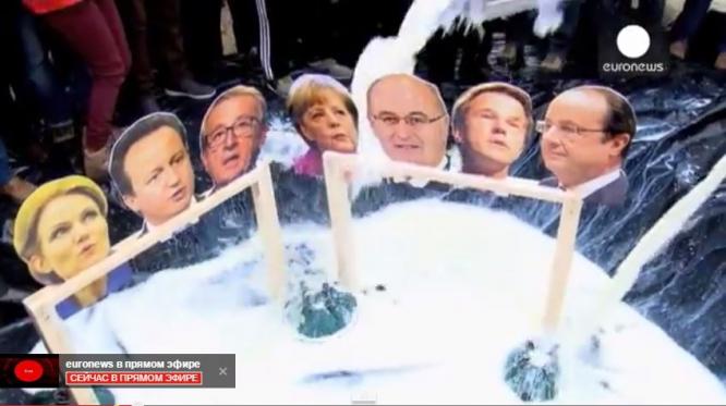 Молочные протесты в Брюсселе