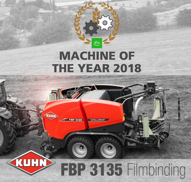 Партнерский материал: KUHN FBP3135— машина года 2018! Комбинация пресс-подборщик— обмотчик!