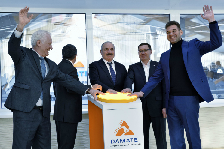 «Дамате» открыла молочный комплекс на4600 голов