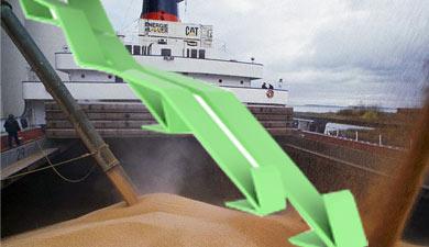 Экспорт зерна виюле снизится