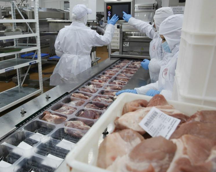 В2017 году промышленное производство мяса выросло на7%