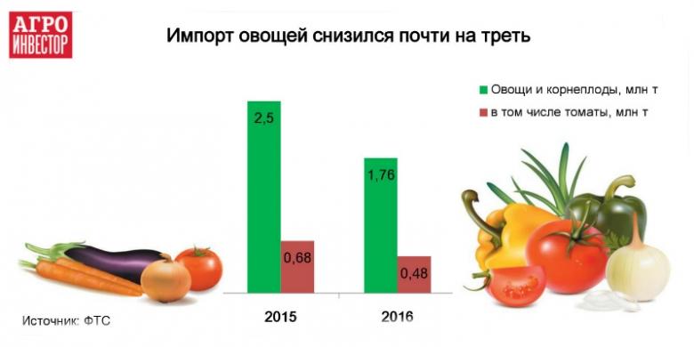 Хорошие урожаи способствуют сокращению ввоза овощей