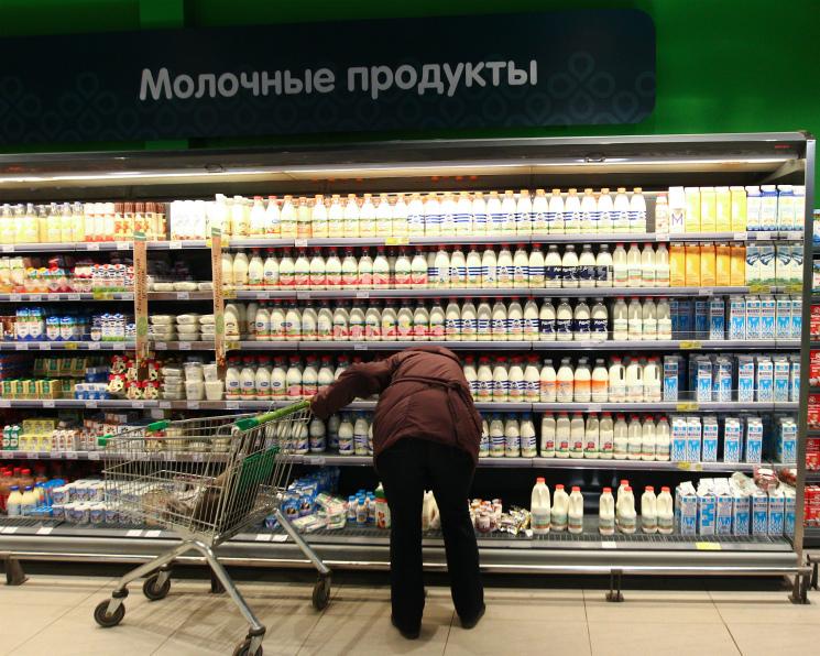 Продажи молочной продукции упали на4%