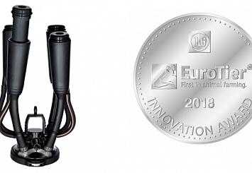 Партнерский материал. Подвесная часть доильного аппарата DeLaval Evanza™ была удостоена серебряной медали Innovation Award EuroTier