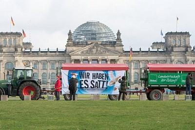 Акция протеста аграриев в Берлине